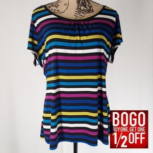 Worthington | Colorful Short-sleeve Top (X-Large)